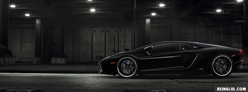 Black Lamborghini Facebook Covers