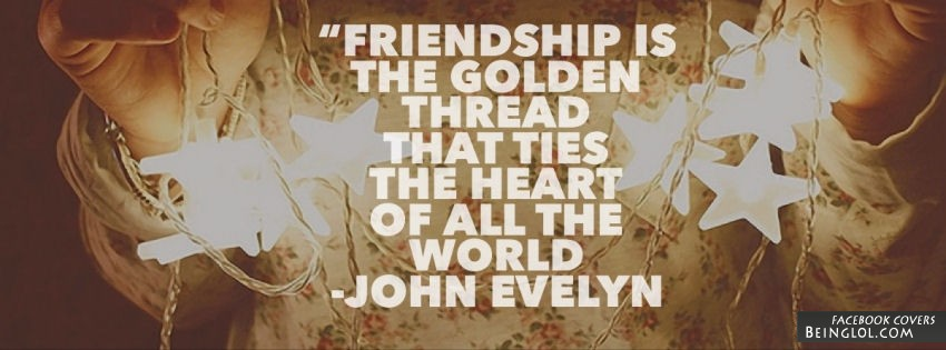 Friendship is the golden thread that ties the heart of all the world.