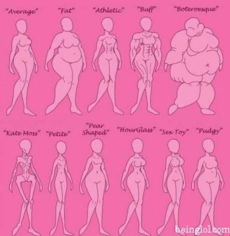 Female Body Type Chart