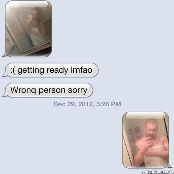 Funny Wrong Number Text
