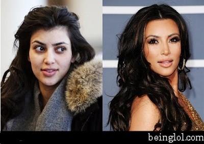 Kim Kardashian Without Any Make Up
