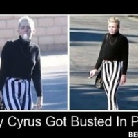 Miley Cyrus Got Busted In Public