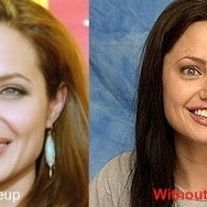Angelina Jolie Without Makeup .