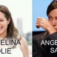 Angelina Jolie & Angelina Sad.