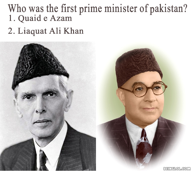 Who was the first prime minister of Pakistan?