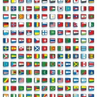 How many flags are in this picture?