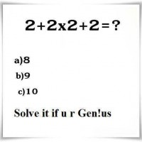 What is 2+2x2+2?