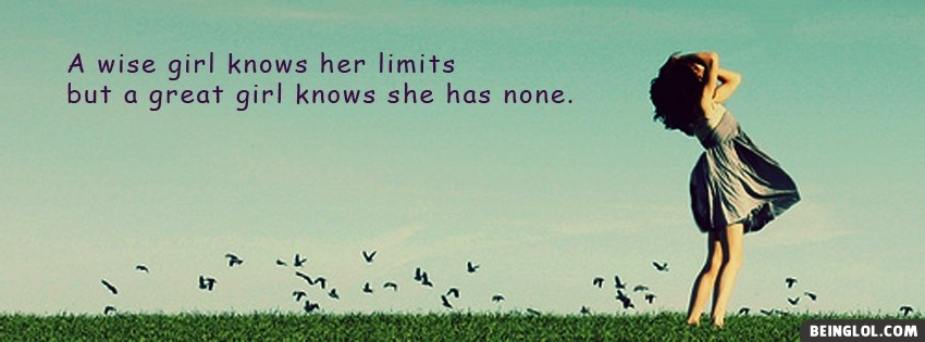 A Wise Girl.. Facebook Covers