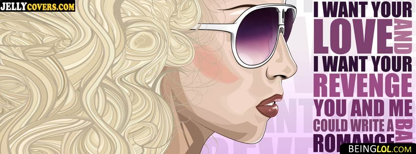 Bad Romance Facebook Cover