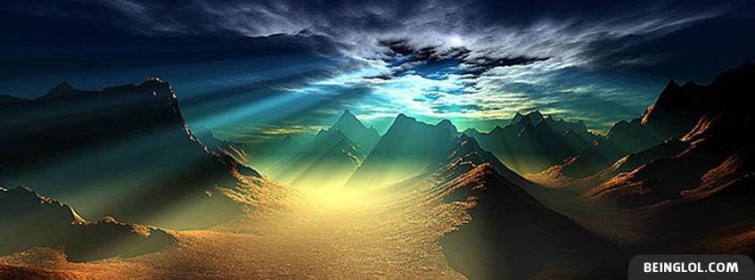Beautiful Sun In The Mountains