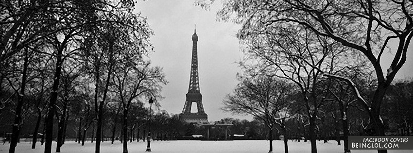 Black and white eiffel tower facebook covers