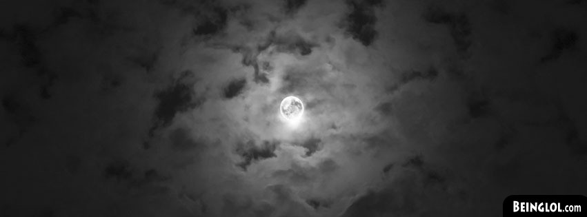 Cloudy Night Sky Moon