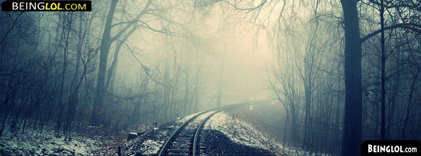 Cold Train Tracks Facebook Covers