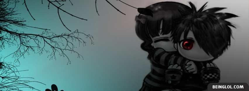 Cute Emo Love Facebook Covers