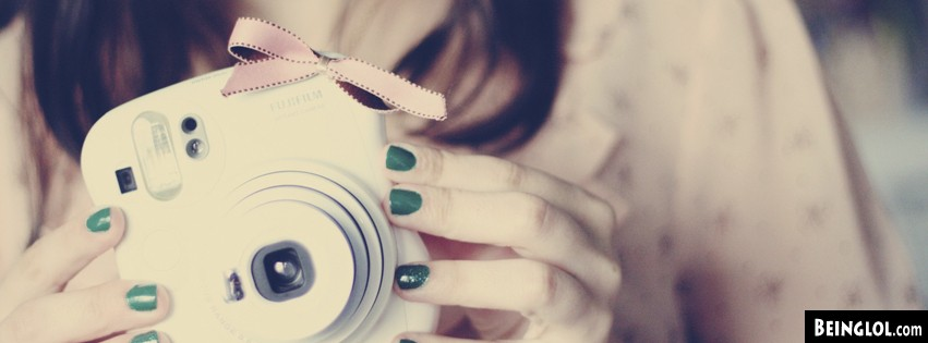 Cute Polaroid Camera Facebook Covers