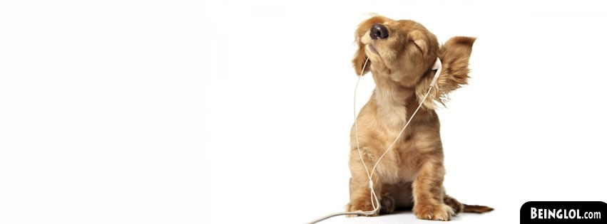 Cute Puppy With Headphones