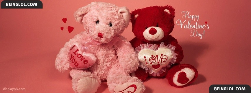 Cute Teddy Bears Of Valentine Day