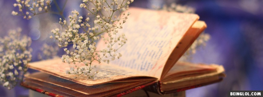 Flowers Book Bokeh Facebook Covers