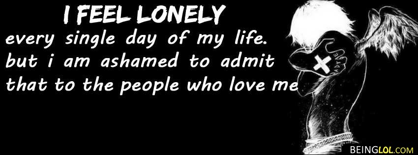 lonely quote facebook cover