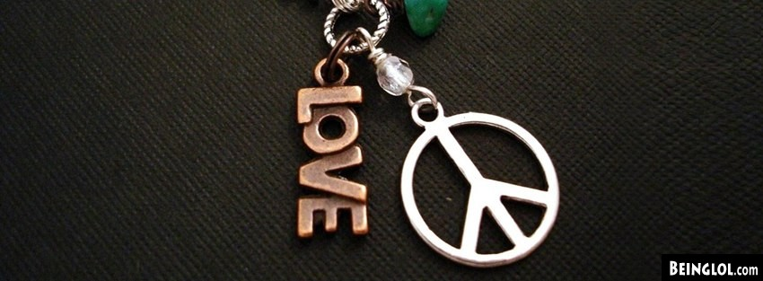 Love Peace Hippie Necklace Facebook Covers