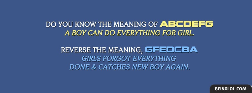 Meaning Of Abcdefg Facebook Covers