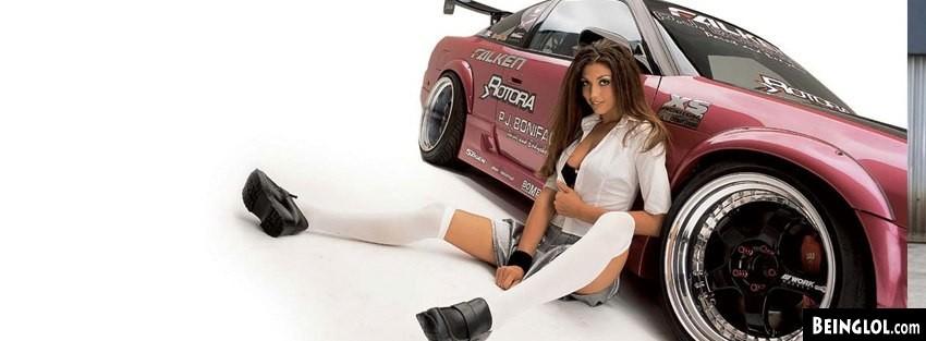 Racing Car School Girl