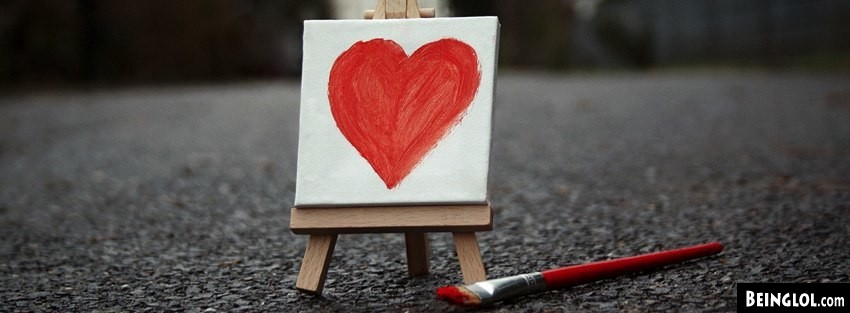 Small Painted Heart