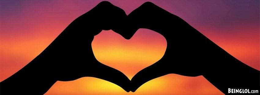 Sunset Hand Heart