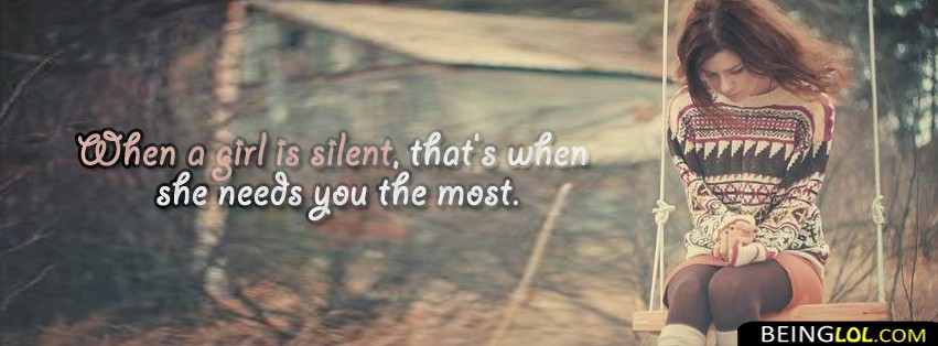 When a Girl Is Silent..