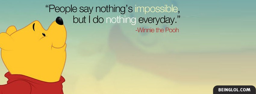 Winnie The Pooh Quote Facebook Covers