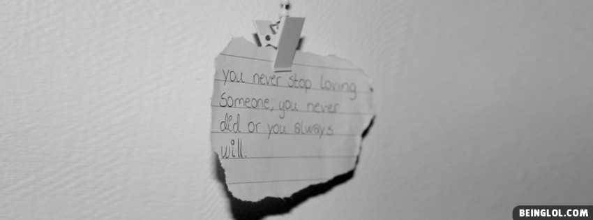 You Never Stop Loving