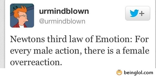 Funny Law of Emotion