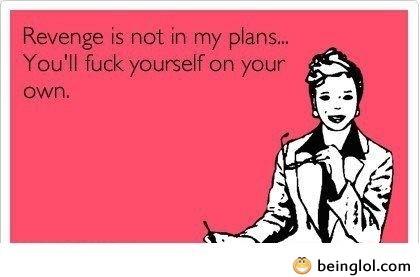 Revenge Is Not In My Plans
