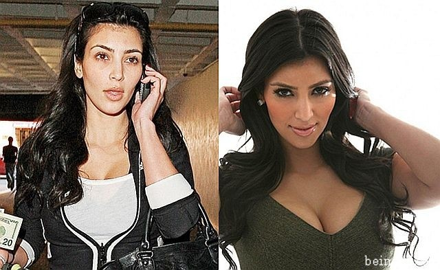 Real Face of Kim Kardashian