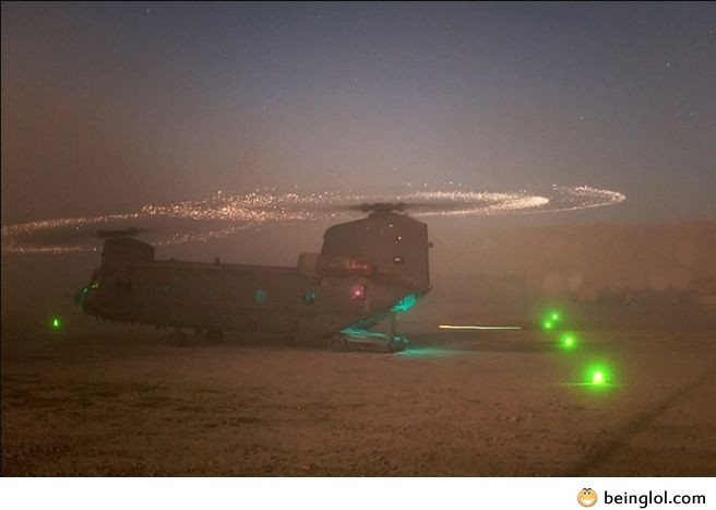 Helicopter In a Sandstorm