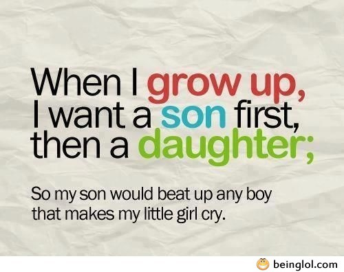 I Want a Son First