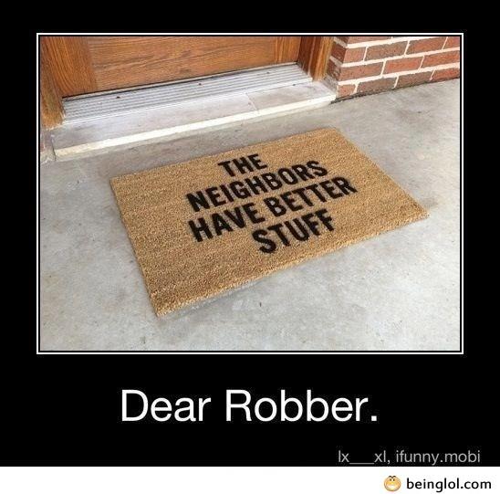 Dear Robber