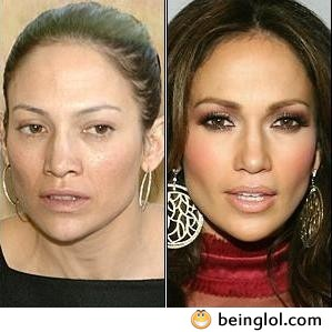 Jennifer Lopez Without Makeup !