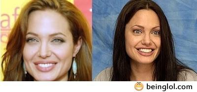 Angelina Jolie Without Makeup .