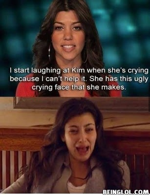 Kim Kardashian Crying !