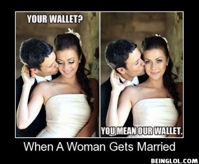 When a Woman Gets Married !
