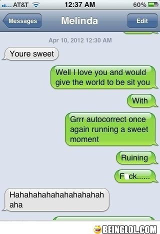 Girl Friend Is Angry with Autocorrect