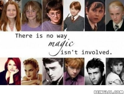 Harry Potter Celebrities - Then and Now.