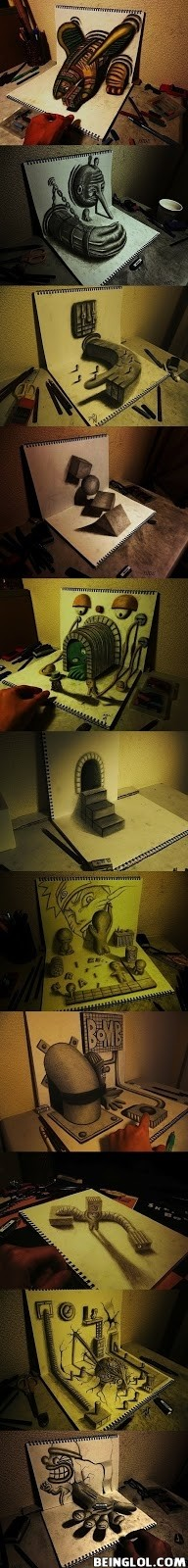 3d Drawings On Sketchbook !
