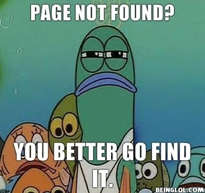 When My Browser Doesn't Find a Page