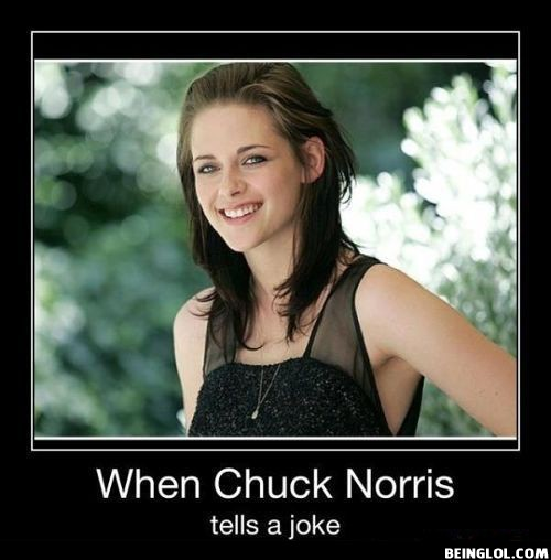 When Chuck Norris Tells a Joke