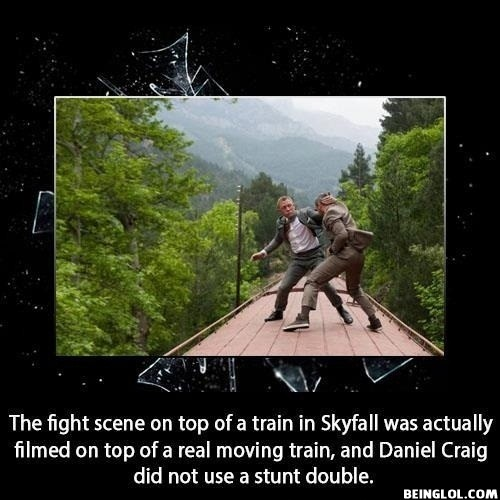 The Top Scene On Top of a Train In Skyfall Was Actually Filmed....