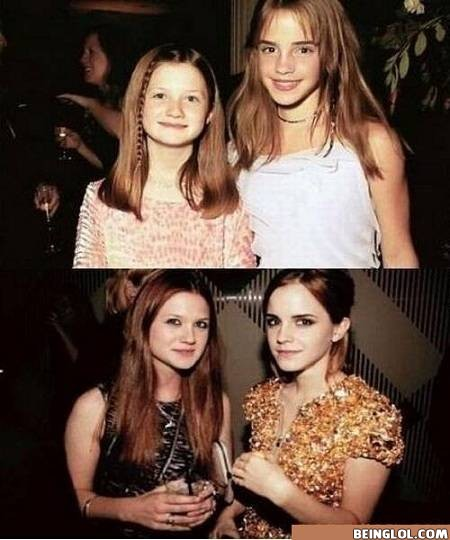 Emma Watson and Bonnie Aka Ginny and Hermione