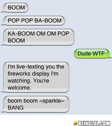 Funny Text Message Sounds Fireworks.