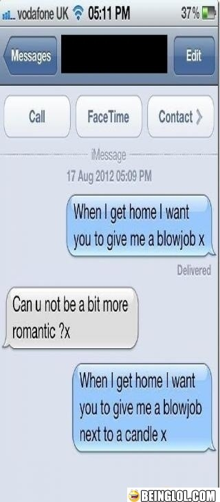 Can You Be a Bit More Romantic Please ?